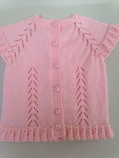Yelek modeli by sevimerkul Knitting Designs, Baby Knitting Patterns, Baby Patterns, Knitting Stitches, Knitting For Kids, Crochet For Kids, Crochet Baby, Baby Sweaters, Girls Sweaters