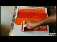 Acrylic Abstract Painting #Demonstration #making..... 27/01/2017 - YouTube