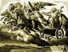2 Kings 2:1-15a Elijah being taken up into heaven in a chariot of fire