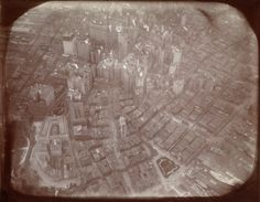 James H. Hare (American, born England, 1856 - 1946) - First aerial photo of New York, from balloon, 1906