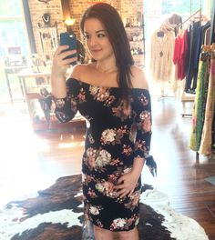 Need that perfect dress for a Saturday night out? We've got you covered! This dress is super soft so you will be cute and comfy all night! PLUS this dress is on sale today for $36!!