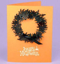 Halloween wreath card