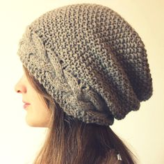 """The """"Wavy Moss Hats and Headband"""" pattern allows you to knit a customizable, stylish fitted beanie, relaxed slouchy hat, or even a simple cabled headband."""