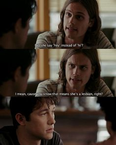 neuroticism realized in (500) Days of Summer