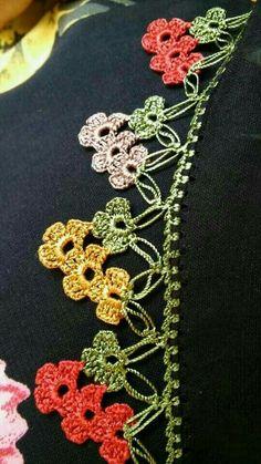 Tığ işi oya örneği [] # # # # – My All Pin Page Crochet Boarders, Crochet Blanket Edging, Crochet Lace Edging, Crochet Stitches Patterns, Crochet Trim, Irish Crochet, Crochet Designs, Crochet Flowers, Knitting Patterns