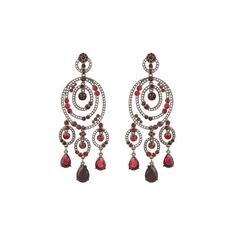 Oscar De La Renta Loop crystal-embellished earrings (17.420 RUB) ❤ liked on Polyvore featuring jewelry, earrings, oscar de la renta, red, pave jewelry, oscar de la renta earrings, polish jewelry, metal jewelry and pave earrings