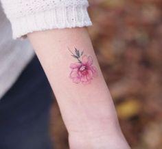 Tattoo에 있는 lisa jo szalajeski님의 핀 татуировки, милые тату 및 тату с пионами. Peony Flower Tattoos, Flower Tattoo Meanings, Flower Tattoo Back, Small Flower Tattoos, Peonies Tattoo, Girly Tattoos, Flower Tattoo Designs, Trendy Tattoos, Rose Tattoos