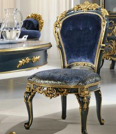 Luxury classic dining chair carved with gold painted floral art  👇 download royal catalog 👇