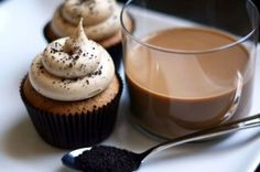 Dark Chocolate Coffee Bean Cupcakes