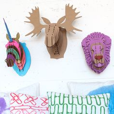 Design Animal Busts - Darby Smart. Would my children think these are as awesome as I do?