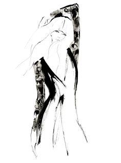 Fashion illustration - stylish fashion sketch // Yoco Nagamiya