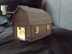 popsicle stick barn ideas - Google Search
