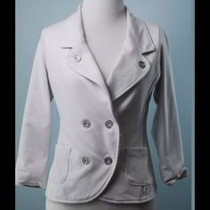 G BY GUESS White Stretch Jacket Size Small G BY GUESS White Stretch Jacket Size Small Guess Jackets & Coats