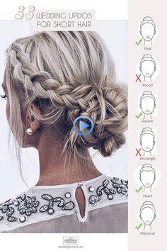 33 Hochzeit Hochsteckfrisuren z. Hd. kurze Haare #frisurenhochzeitgast