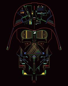 TieFighters — Darth Vader: His Inside Created by Macarena. Darth Vader Star Wars, Star Wars Jedi, Star Wars Dark, Star Trek, Star Wars Fan Art, Cuadros Star Wars, Star Wars Images, Star Wars Tattoo, Star Wars Wallpaper