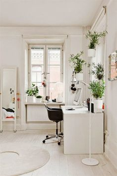 of paper and things: inspiration board | white interiors + green plants