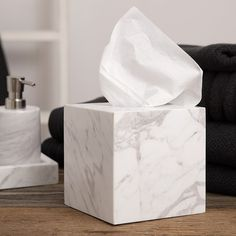 Marble (contact paper) tissue box