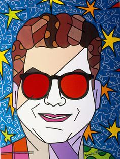 "Romero Britto's ""Michael Musto"" 2005,  40"" x 30"" Acrylic on Canvas. Learn more about Romero Britto and Florida (The Sunshine State) at: www.floridanest.com"