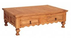 Rustic Pine Coffee Table 2 drawers