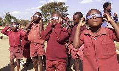 Schoolchildren from St Albert's junior school in Mavuradona, Zimbabwe