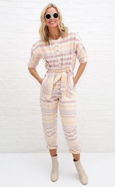 Nikki Taylor from The Big Picture: Today's Hot Photos  The 90's top model is spotted at theMara Hoffman show during New York Fashion Week rocking a perfect pastel jumpsuit.
