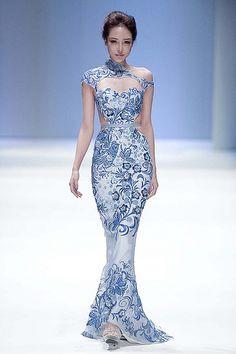 Oriental woman wedding dress series (2)
