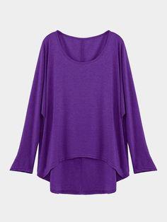 0dcd845d4b80d Purple Loose Women Casual Blouse