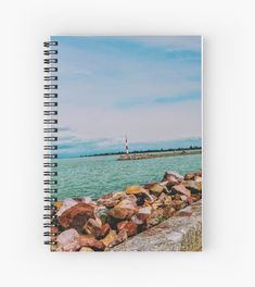 'By the lake' Spiral Notebook by godolilla Framed Prints, Canvas Prints, Art Prints, Notebook Design, Relaxing Day, Sell Your Art, Art Boards, Spiral, My Design