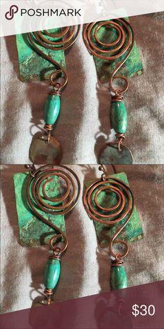 Handmade Copper/Turquoise Earrings Handmade Copper/Turquoise Earrings Jewelry Earrings