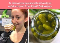 Ta dziewczyna postanowiła pić wodę po ogórkach przez 7 dni. Efekt? Zaskakujący Pickles, Cucumber, Fruit, Food, Diet, Essen, Meals, Pickle, Yemek