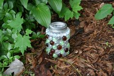 Glass Gem Mason Jar Lanterns or Storage by Category5Creations