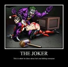 Joker and Harley Quinn just hanging