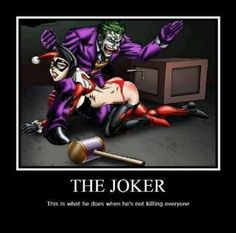 Joker and Harley Quinn just hanging
