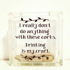 Vinyl Decal Wine Cork Holder Personalized Gift by pinkiedots
