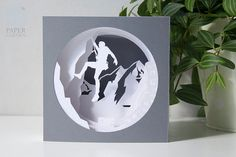 Papercut Template Tunnel card Be stronger door PaperGardenGifts