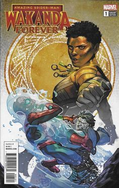 Spider-man Wakanda Forever NM Marvel Comics for sale online Black Characters, Comic Book Characters, Comic Character, Comic Books Art, Comic Art, Character Design, Marvel Heroes, Marvel Comics, Marvel Dc