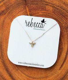Bee Mini Silhouette Necklace