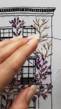 Hand Embroidery Videos, Embroidery Stitches Tutorial, Creative Embroidery, Simple Embroidery, Learn Embroidery, Embroidery For Beginners, Hand Embroidery Designs, Hand Embroidery Projects, Applique Designs