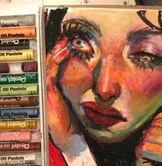 I have oil pastels that I've been wanting to try. Art Sketches, Art Drawings, Oil Pastel Art, Oil Pastels, Oil Pastel Paintings, Arte Sketchbook, Hippie Art, Arte Pop, Psychedelic Art