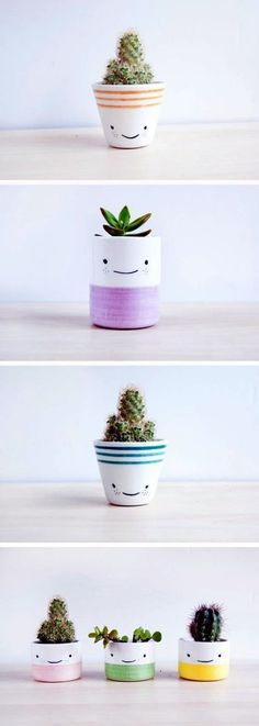 Clever Ceramic Pottery Painting Ideas to Inspire Your Next Project, Diy And Crafts, Best Ceramic Pottery Painting ideas for DIY project design and inspiration. This collection of ceramic pottery painting examples is for anyone looking. Diy Décoration, Diy Crafts, Easy Diy, Suculentas Diy, Ideias Diy, Beginner Painting, Painted Pots, Ceramic Painting, Diy Painting