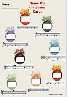 #Christmas Carol Music Class Aural Activities. Three activities in the download. Maybe for party games?