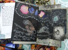 Love this art journal page from -  http://elizabethbunsen.typepad.com/be_dream_play/