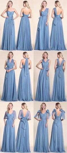 A line convertible bridesmaid dress.