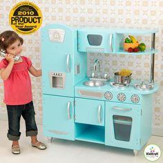 KidKraft Blue Vintage Kitchen - 53227 - Play Kitchens at Hayneedle