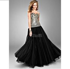 Leopard Sequined Evening Gown Dress