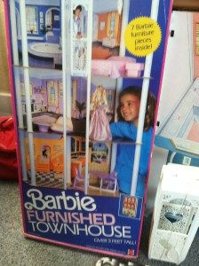 1987 Barbie Furnished Townhouse Town House - BARBIE & FRIENDS NRFB ARCHIVES