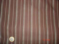 100%coton à rayures/chocolat vendu au m(m325)