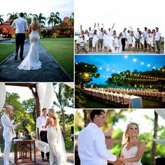 Kelly's amazing Bali wedding...  The vibrant colours of the day complimented the gorgeous tones of her gown.