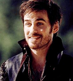 !! this is a gif (click on the picture)!! so cute :) <3 I like his version of Captain Hook :)  Lol! This seriously a great GIF of our dear Capitan.