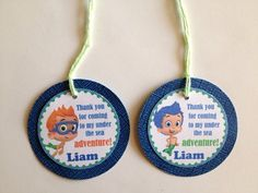 Bubble Guppies Boys Custom Birthday Party Gift Tags Thank You Tags | DivineDecorations - Seasonal on ArtFire